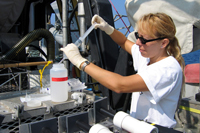 Sampling Lophelia in the Gulf of Mexico. © USGS/Christina Kellogg